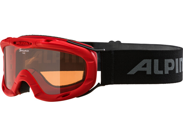 Alpina Ruby S Singleflex Hicon S1 - Gafas de esquí - rojo